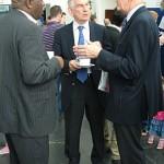 Professor Ieuan Hughes, Ian Peaccok (Mothercare Group Foundation), Terry Ndee (CUDOS)